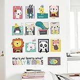 Decals Design 'Cartoon Baby Animals Cute ' Wall Sticker (PVC Vinyl, 60 Cm X 90cm)