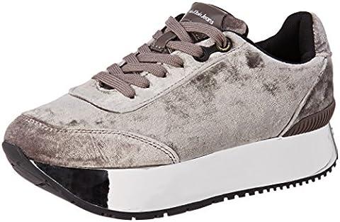 Calvin Klein Damen Cate Velvet Sneaker, Mehrfarbig (Silver/Silver), 40 EU (Calvin Klein Sneakers)