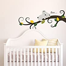 Amazonfr Stickers Arbre Blanc Bebe - Enfants decoration chambre autocollants