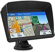 GPS Navi Navigationsgeräte für Auto, Navigation für Auto LKW PKW Touchscreen 7 Zoll 8G 256M Sprachführung Blitzerwarnung mit