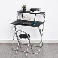 Earlybird Savings Folding Computer Desk Chair Set for Child Teenager Girls Boys Study,One Desk,One Chair