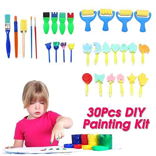 30pcs / set DIY Kit herramienta pintura infantil pincel