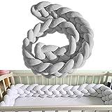 Baby Kinderbett Stoßstangen 3-lagig Zöpfe breit Schutz Schlange Kissen Home Dekoration 200cm