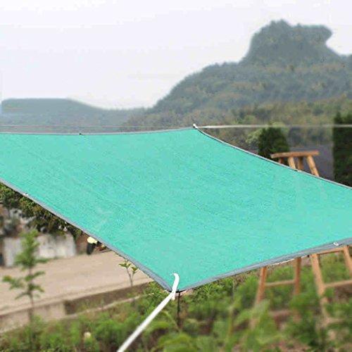 Markisen Sonnenschutz Schattennetz Insektenschutz Netzplane Schleifen Verschlüsselung Schatten Gartenbedarf suppurysu Sonnenschirme, Pavillons (Color : Green, Size : 2.2 * 6 m/87 * 236 inch) -