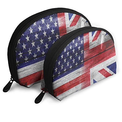 Reisetaschen Amerikanische Flagge Stern Streifen Holz CoinShell Clutch Pouch Bag Für Frauen/Mädchen