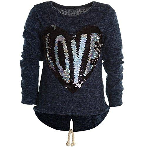 Mädchen Kinder Winter Strick Pullover Pulli Hoodie Hoody Sweat Shirt Jacke 20680