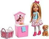 Barbie Muñeca Chelsea Junior y Tienda de mascotas - muñeca -(Mattel FHP67)