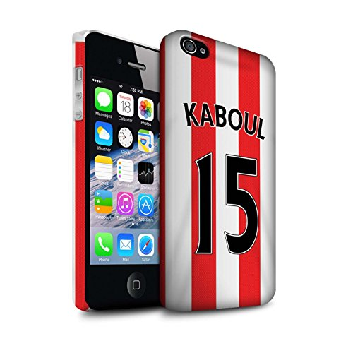 Offiziell Sunderland AFC Hülle / Matte Snap-On Case für Apple iPhone 4/4S / Pack 24pcs Muster / SAFC Trikot Home 15/16 Kollektion Kaboul