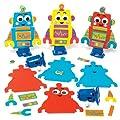 """Aufziehfiguren-Sets """"Roboter"""" für Kinder Zum Gestalten, Basteln und Dekorieren – Kreatives Bastelset für Kinder (3 Stück) von Baker Ross"""