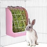 LanLan Alimentador de Hierba para Conejo, Cesta de Hierba para Pequeña Mascota Conejillo de Indias, Accesorios de Jaula de Totoro,Contenedor de Recipiente de Comida Fija