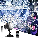 B - right lampada LED proiezione, punto neve proiettore lampada proiettore luce interni esterno illuminazione d' atmosfera natalizia per natale, feste, matrimonio