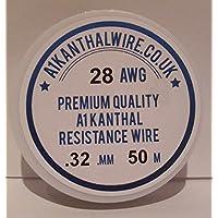 A1Kanthal Tipo Filo di resistenza–(28AWG, 0,32mm, 50m, bobina 17,97Ohm/m, di alta qualità, cavo a