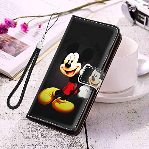 Coque Portefeuille Compatible Samsung Galaxy S10e Version 5.8 Mickey Mouse Kids Cartoon Disney Full Body