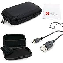 DURAGADGET KIT Estuche / Funda Rígida Para Navegador GPS + Cable MiniUSB-USB + Paño Limpiador De Pantalla