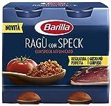 Barilla Ragu Con Speck, con Speck Affumicato, Sugo Pronto dal Gusto Ricco e Corposo, 2x180 g