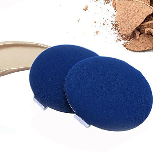 Lot de 6 humide et sec à double usage de maquillage éponge Coussin d'Air houppette pour BB Minerals-water CC Crème teint liquide aspect votre Maquillage sera plus naturel (Bleu)
