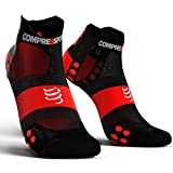 Compress port Pro Racing Socks V3.0 Ultralight Run Low – Calcetines cortos Running unidad Unisex Sport Calcetín Zapatillas calcetín, color negro, tamaño T3 (42-44)