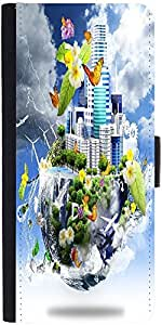 Snoogg Half Earth Designer Protective Phone Flip Case Cover For Htc Desire 820G Plus