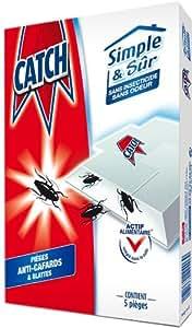 Catch - 22406 - Simple et Sûr - Pièges Anti-Cafards x 5