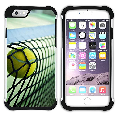 Graphic4You Tennis Ball Sport Hart + Weiche Kratzfeste Hülle Case Schale Tasche Schutzhülle für Apple iPhone 6 Plus / 6S Plus Design #12