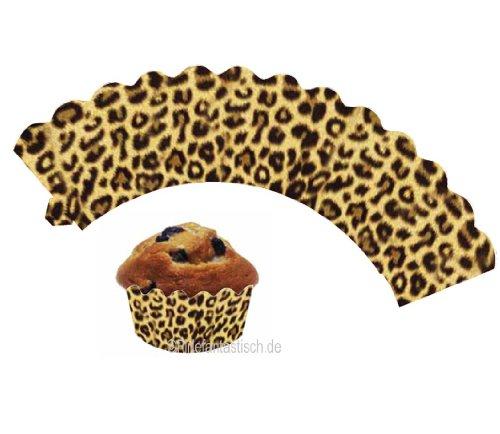 """Preisvergleich Produktbild Deko-Banderolen für Muffins """"Leoparden-Look"""" 12er Pack"""