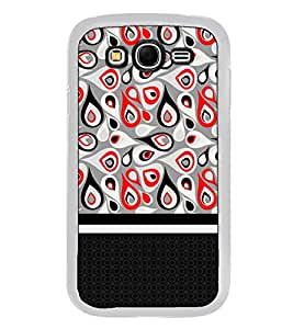 Fuson Designer Back Case Cover for Samsung Galaxy Grand Neo I9060 :: Samsung Galaxy Grand Lite (line strips tika bindi rangoli art)