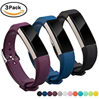 For Fitbit Alta HR and Alta Strap Band, Digitek Bands Strap Silicone for Fitbit Newest Wristband Accessory Fitness Sport Watchbands with Adjustable Metal Buckle Clasp