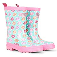Hatley Flower Sketches Rain Boots Pink