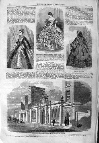 1859 CROLL SÈCHENT LA MODE DE L'USINE KINGSLAND DE GAS-METER par original old antique victorian print