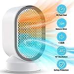 Termoventilatore Ceramica, PTC Stufa Elettrica Riscaldamento 2S Touch Controllo 600W/3.5W Riscaldatore Elettrico… 51Ow2VB2CpL. SS150