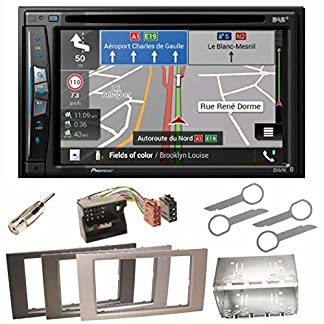 Pioneer-AVIC-Z710DAB-Navigation-Digitalradio-CarPlay-Bluetooth-USB-DAB-CD-DVD-MP3-Einbauset-fr-Ford-Focus-C-Max-Fiesta-Transit
