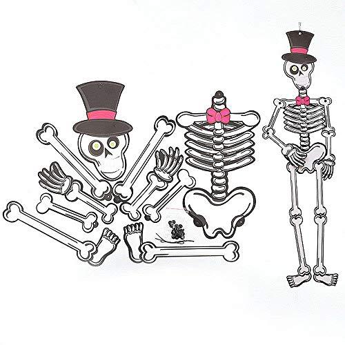 WDDqzf ornament Dekoration Statuen Papier DIY Anhänger 3D Skeleton Zombie Vampire Ornament (Zombie), Hut Skeleton
