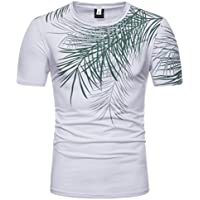 ZIYOU Herren Kurzarm Tee, Sport Jogging Fitness T Shirts/Männer Rundhals Pullover Druck Streetwear