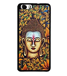 PrintVisa Lord Budha Buddhist High Glossy Designer Back Case Cover for Huawei Honor 6x