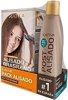 Pack ahorro Kativa Kit Alisado Brasileño con Champú Post Alisado - Tratamiento Alisado Profesional en casa - Hasta 12...