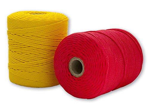 Cordamanía CMHP00PHCE - Pack de 2 unidades de hilo de replanteo (200 m) color rojo y amarillo