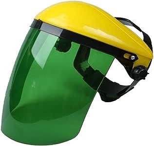 Casco per saldatura resistente al calore di Mask Electrowelding Clear Safety Face Shield e visiera per sicurezza Mask Eye Taglia libera Yellow+green
