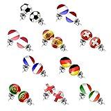 Die Taffstyle® Fußball Fanartikel 1 Paar Ohrstecker - 2