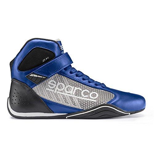 Sparco 00125741AZSI Botines para Karting, Azul/Plata, 41