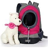Japace® Transportin Bolsa Mochila Bolso para Perro Perrito Gato Mascota Animales con Gancho y Correa Ajustable Tamaño: 40 * 35 * 17cm para el Peso Aprox. 3-5kg (Rojo)