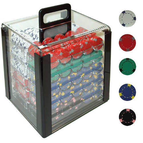 Trademark Global Markenzeichen 100013Gramm pro Clay Casino Poker Chips in Acryl Carrier (kristallklar)