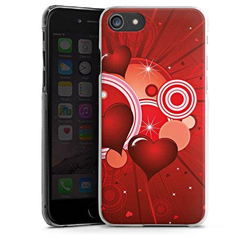 Apple iPhone X Silikon Hülle Case Schutzhülle Herz Liebe Kreis Hard Case transparent