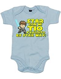 Body bebé Star Wars Star con mi tio favorito es Star Way Luke Skywalker