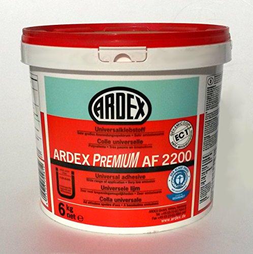 ARDEX AF2200 Universalklebstoff 6Kg, Dispersionsklebstoff zum Kleben von Bodenbelägen Innen
