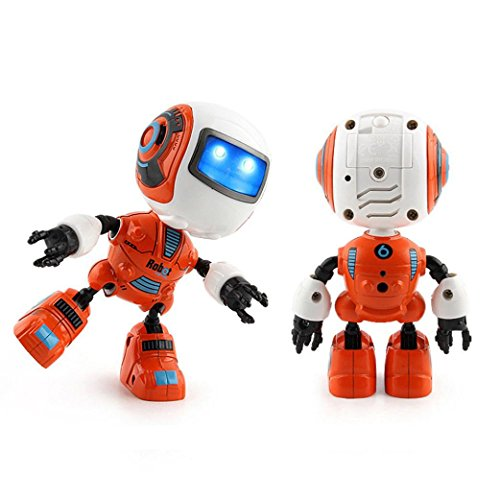 Omiky® Sensing Touch Multifunktions Musik Smart Mini Alloy Roboter Kinder Spielzeug Geschenk (Orange)