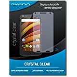 3 x SWIDO Crystal Clear Screen Protector for Motorola Moto X Force - PREMIUM QUALITY (crystalclear, hard-coated, bubble free application)
