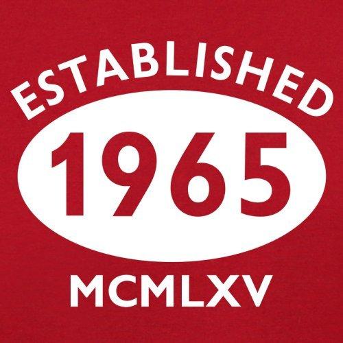 Gegründet 1965 Römische Ziffern - 52 Geburtstag - Herren T-Shirt - 13 Farben Rot
