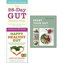 28-day gut health plan, reset your gut and happy healthy gut 3 books collection set - restore your digestive health and lose weight with over 75 delicious recipes, the plant-based diet solution to curing ibs and other chronic digestive disorders