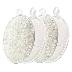 Idea Regalo - Esfoliante Loofah pads-4Pack Leitop 100% natural Luffa e materiali in spugna, spugne Loofah scrubber spazzola stretta pelle per uomini e donne