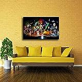 adgkitb canvas 50x70cm SIN Marco Luna, Sol, Noche, Verano Decoración para el hogar Pintura a2